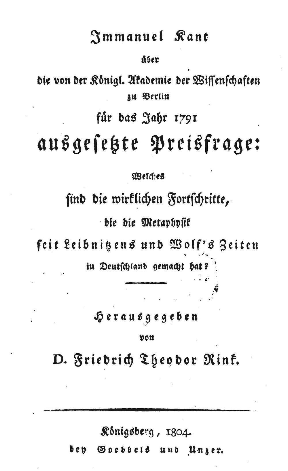 Kant's Writings