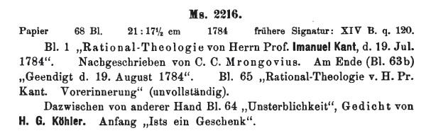 Natural Theology Notes