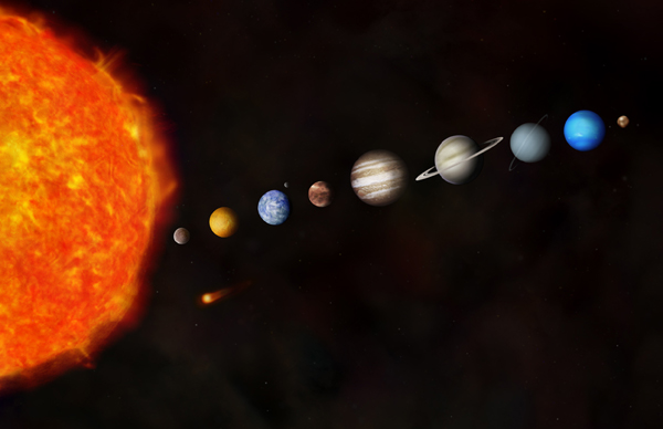 the solar system in all the planets in order - photo #11