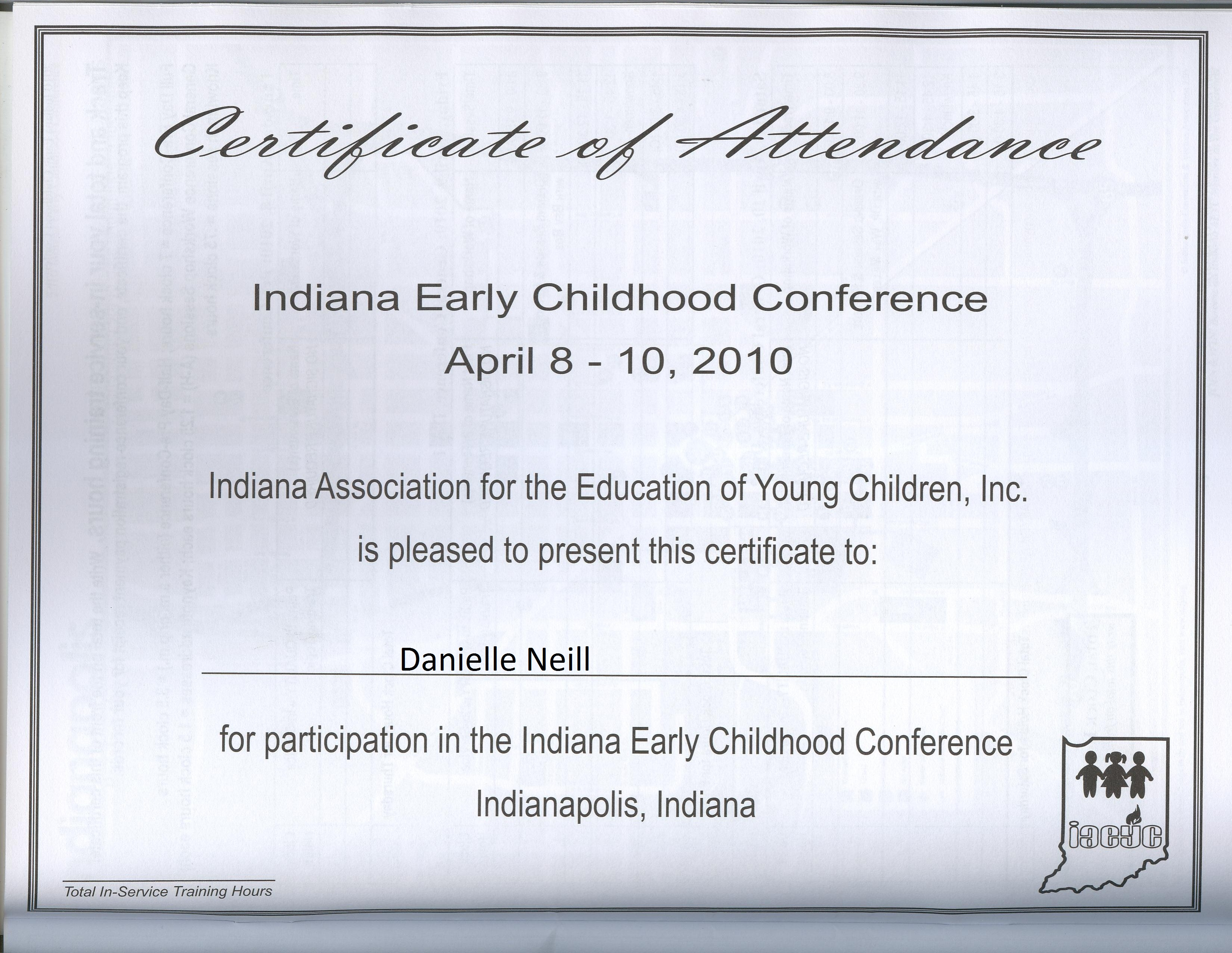 Portifolio the iaeyc conference certificate and the iaeyc rubric for the group presentation shows that i am sensitive to diversity with both students co workers 1betcityfo Image collections